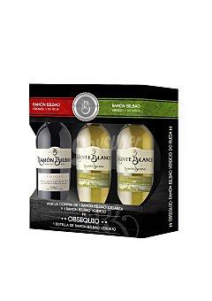 Ramón Bilbao Estuche de 2 botellas de vino D.O. Rueda blanco verdejo Monteblanco + 1 botella de vino D.O. Rioja tinto crianza 1 ud