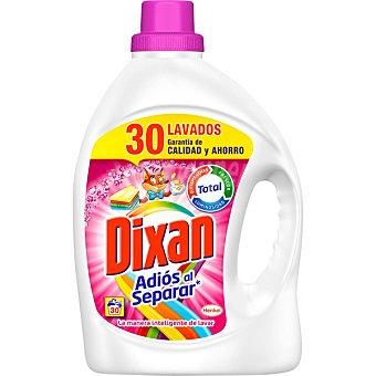 Dixan Detergente máquina líquido Adiós al Separar fórmula anti-transferecia de color botella 30 dosis 30 dosis