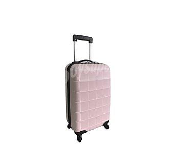 Maleta Maleta de 4 ruedas, abs, rígida, con diseño de cuadros y de color rosa Trolley rígido 50cm
