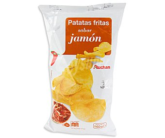 Auchan Patatas fritas con sabor a jamón, 160 gramos