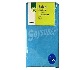 PRODUCTO ECONÓMICO ALCAMPO Sábana bajera 100% algodón, color azul 30x22x135 centímetros 1 Unidad