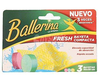 Ballerina Bayeta Fresh Pack 3 Unidades