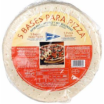HIPERCOR 5 bases para pizza bolsa 650 g