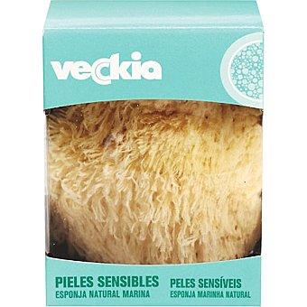 Veckia Esponja natural marina piel sensible Caja 1 unidad