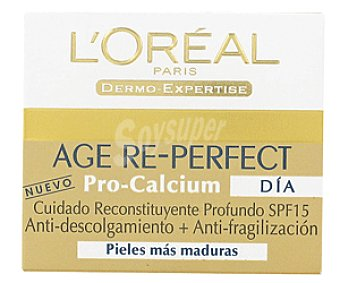 L'Oréal Crema Anti-fragiliza + Anti-Descolgamiento procalcium Age Re-Perfect 50 Mililitros