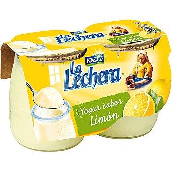 La Lechera Nestlé Yogur de limón enriquecido Pack 2x125 g