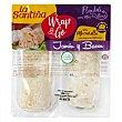 Flautas rellenas de jamón y bacon con mozzarella y toque de orégano wrap & go Pack de 2 unidades de 137 g La Santiña