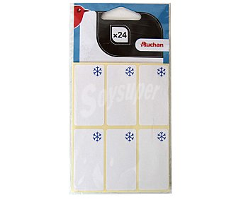 Auchan Bolsa de 24 etiquetas adhesivas para congelación auchan 24u