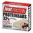 Barritas sabor chocolate blanco - stracciatella Protein Pack de 3 barritas de 35 g Just