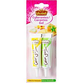 VAHINE Colorantes alimentarios amarillo y verde blister 20 g