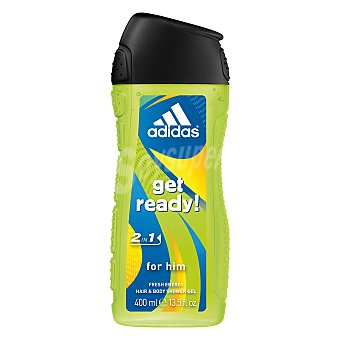 Adidas Gel de baño Get Ready Hair & Body masculino frasco 400 ml Frasco 400 ml