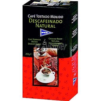 Hipercor Café descafeinado natural molido Paquete 250 g