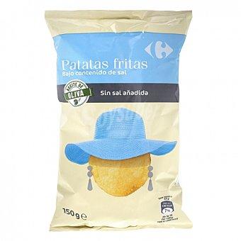 Carrefour Patatas fritas en aceite de oliva contenido bajo de sal 150 G 150 g