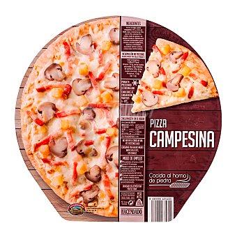 Hacendado Pizza congelada campesina (champiñon, bacon, cebolla) u 390 g
