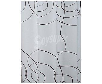 Auchan Cortina de baño 180x180 centímetros, estampado étnico espiral, color marrón 1 Unidad