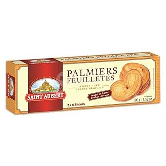 Saint Aubert Palmeritas de hojaldre Estuche 100 g