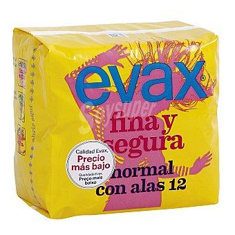 Evax Evax Fina y Segura con Alas Normal 12 unidades