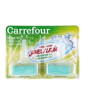 Carrefour Colgador WC con lejía Limón Verde 2 ud
