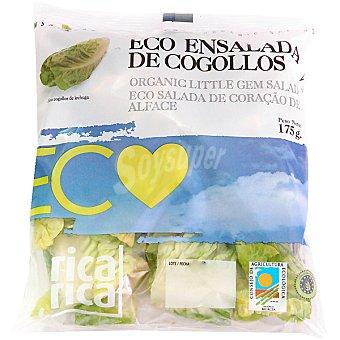 RICA RICA Cogollos de lechuga romana ecológicos Bolsa 175 g