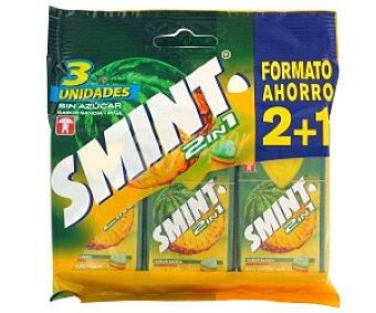 Smint Smint 2 en 1. Caramelos sandía-piña 8g