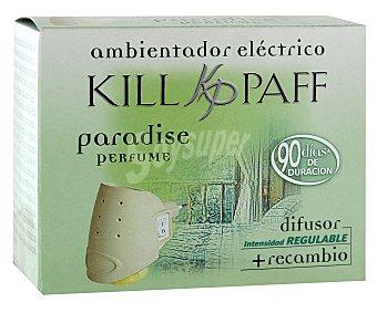 Kill-Paff Difusor eléctrico más recambio con esencia paradise 1 unidad