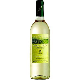 CASTILLO DELFOS Vino blanco D.O. valdepeñas elaborado para grupo El Corte Inglés botella 75 cl Botella 75 cl