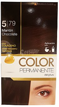 COLOR PERMANENTE TINTE COLORACION PERMANENTE Nº 5,79 MARRON CHOCOLATE (CONTIENE COLAGENO PARA HIDRATAR) 1u
