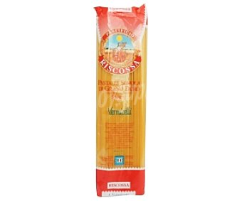 RISCOSSA Espaguetis-Vermicellis Nº4, pasta de sémola de trigo duro de calidad superior 500 Gramos