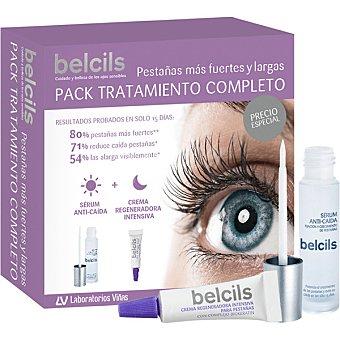 Belcils Pack tratamiento completo con sérum anti-caída pestañas 3 ml + crema regeneradora intensiva 4 ml 3 ml