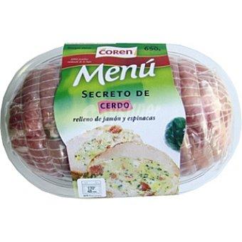 Coren Secreto relleno con jamón y espinacas Bandeja 650 g