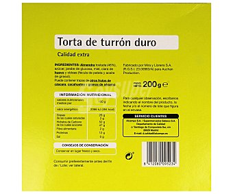 Productos Económicos Alcampo Torta de turrón duro 200 gramos
