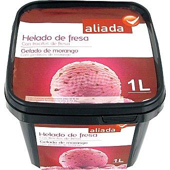 Aliada Helado de fresa con trocitos de fresa Tarrina 1 l