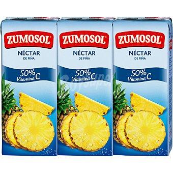 Zumosol Zumo concentrado de piña y uva con vitamina C 3 bricks de 200 ml