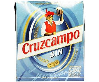 Cruzcampo Cerveza sin alcohol Pack 6x25 cl