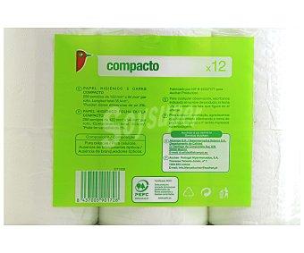 Auchan Papel Higiénico Compacto Doble Capa 12 rollos