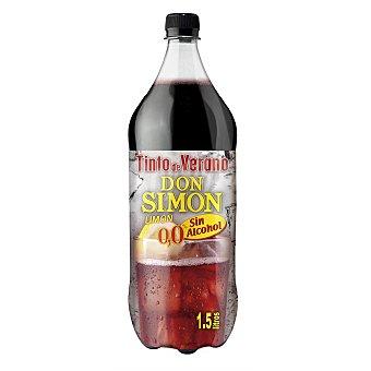 DON SIMON Tinto de verano sabor limón sin alcohol  Botella de 1,5 l