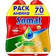 Detergente lavavajillas Oro gel anti-grasa pack 2 botellas 35 dosis pack 2 botellas 35 dosis Somat
