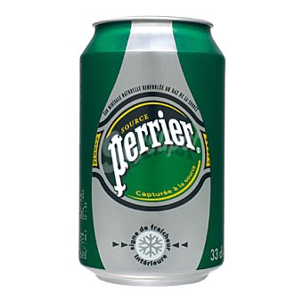 Perrier Agua mineral con gas 33 cl