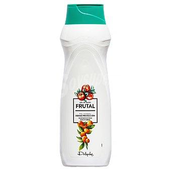 Deliplus Gel de baño dermoprotector piel normal con extracto de frutas  Botella 1 l