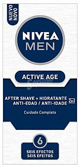 Nivea For Men After shave + hidratante 2 en 1 cuidado completo Active Age Frasco 75 ml