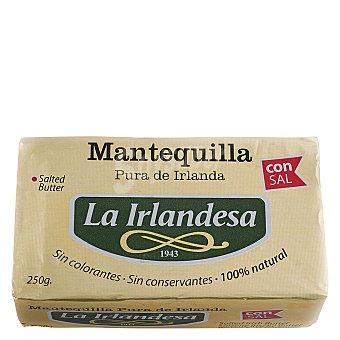 La Irlandesa Mantequilla con Sal 100% natural Pastilla de 250 Gramos