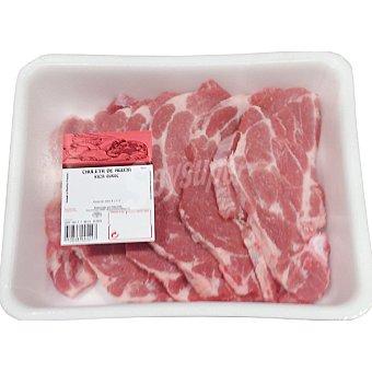 Chuletas de aguja de cerdo bandeja familiar peso aproximado 1 kg
