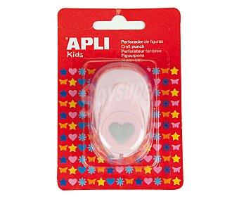 APLI Perforadora color rosa, perfora en forma de corazón 1 unidad