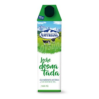Central Lechera Asturiana Leche Desnatada Brik 1 litro