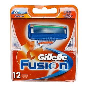 Gillette Fusion Cargador fusión 12 ud
