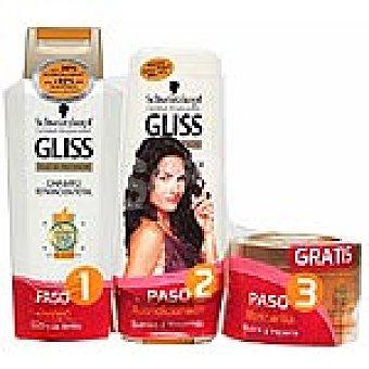 Gliss Champú Reparación total frasco 300 ml + acondicionador + mascarilla Frasco 300 ml