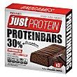 Barritas de proteínas con vitamina B6 sabor chocolante intenso protein Envase 105 g Just