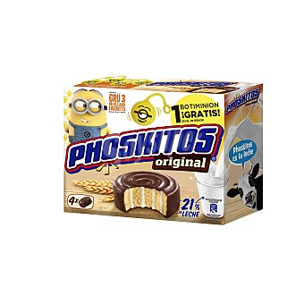 Phoskitos Bizcochitos de chocolate y crema  Caja de 4 uds (160 g)