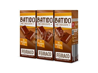 Feiraco Batido de chocolate Pack 3x200 ml