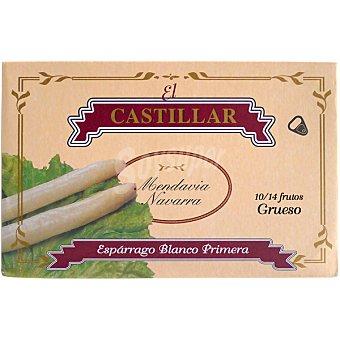 EL CASTILLAR Espárrago blanco primera grueso 10-14 piezas  lata de 220 g neto escurrido